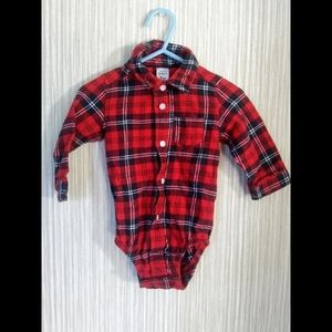 Carter's red plaid button down